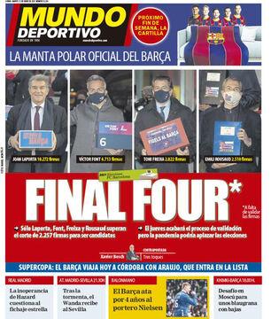 روزنامه موندو| چهارتای نهایی