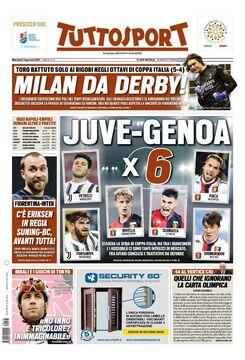 روزنامه توتو| میلان – جنوا ضربدر ۶