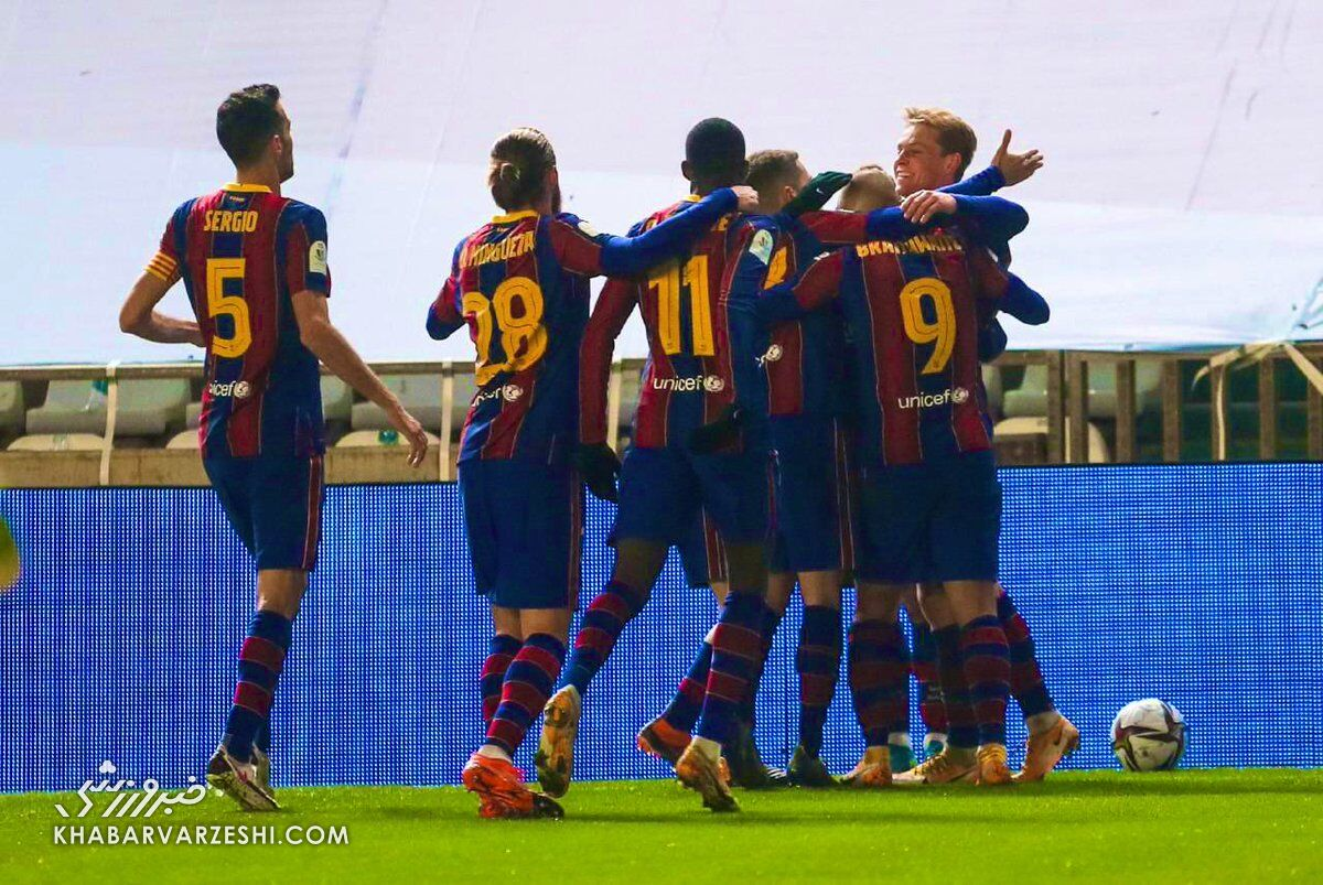 بارسلونا با برتری در ضرباتپنالتی به فینال سوپرجام اسپانیا رسید