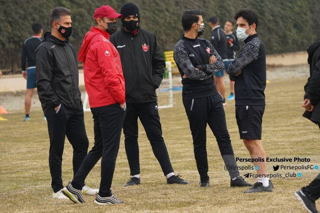 آتش بس در پرسپولیس؛ گلمحمدی در تمرین حاضر شد