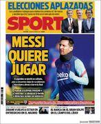روزنامه اسپورت| مسی میخواهد بازی کند