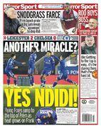 روزنامه میرر  معجز دیگر؟