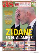 روزنامه آ اس  زیدان روی سیم