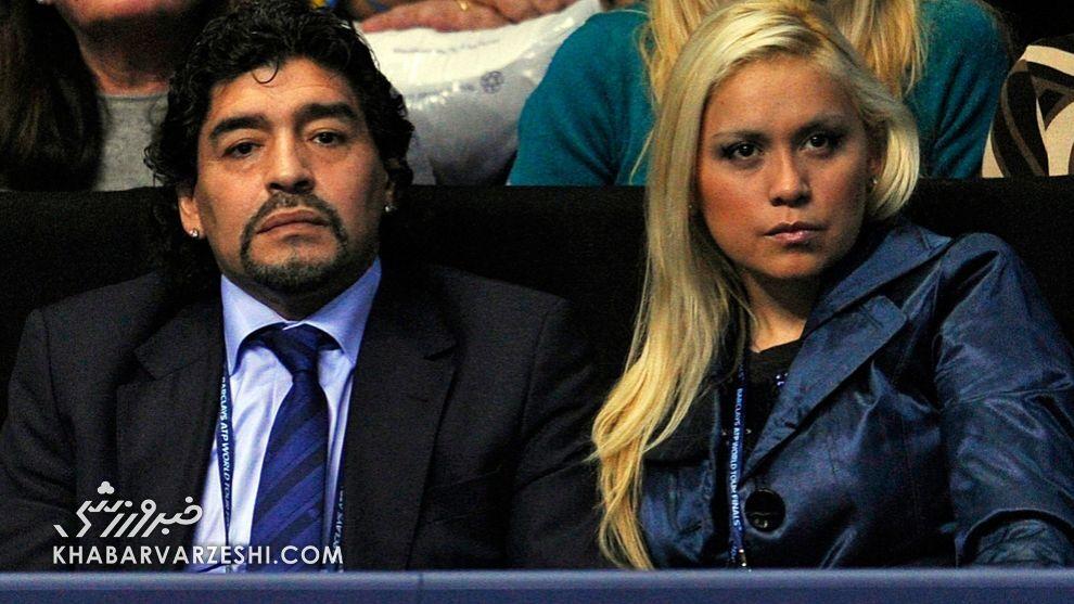 جنگ همسران سابق دیگو مارادونا همچنان ادامه دارد