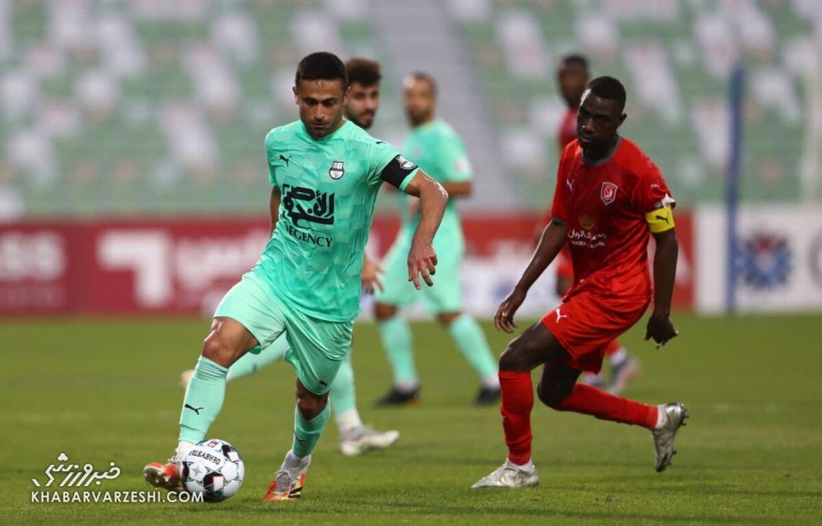 عکس| هافبک ایرانی در تیم منتخب لیگ ستارگان قطر