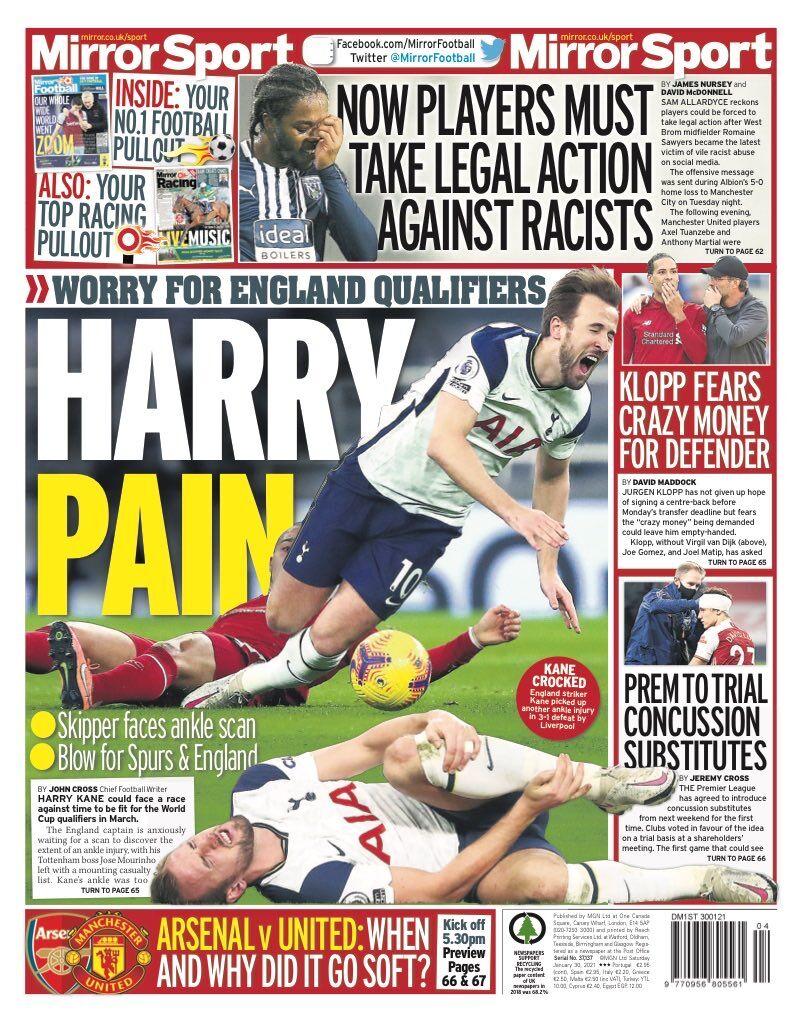 روزنامه میرر| درد هری