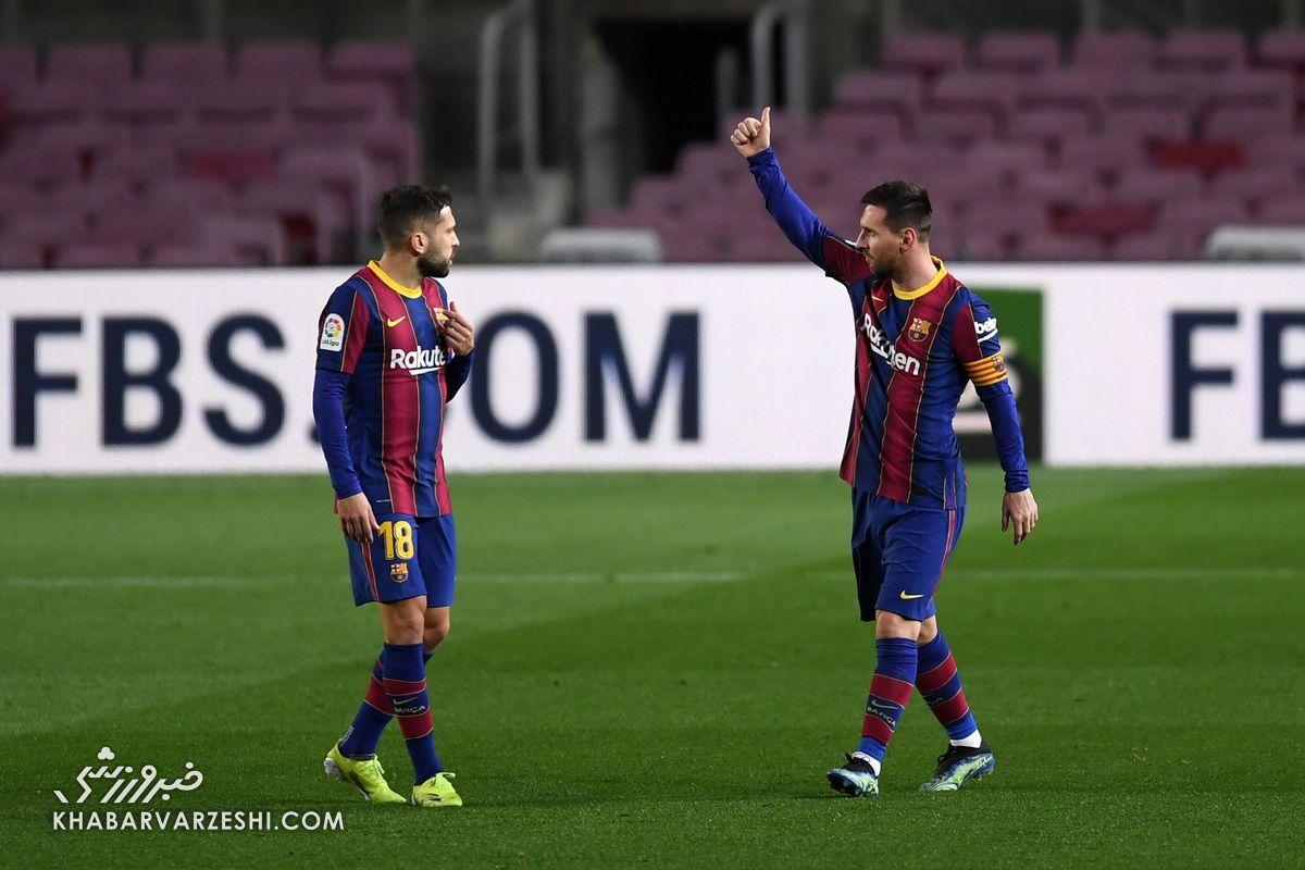 بارسلونا از رئال سبقت گرفت