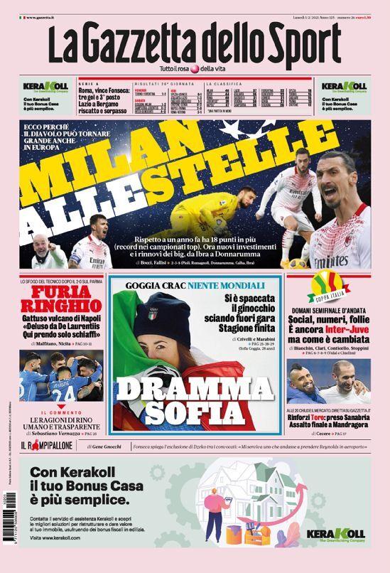 روزنامه گاتزتا| میلان به سوی ستارهها