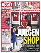 روزنامه میرر  فروشگاه یورگن