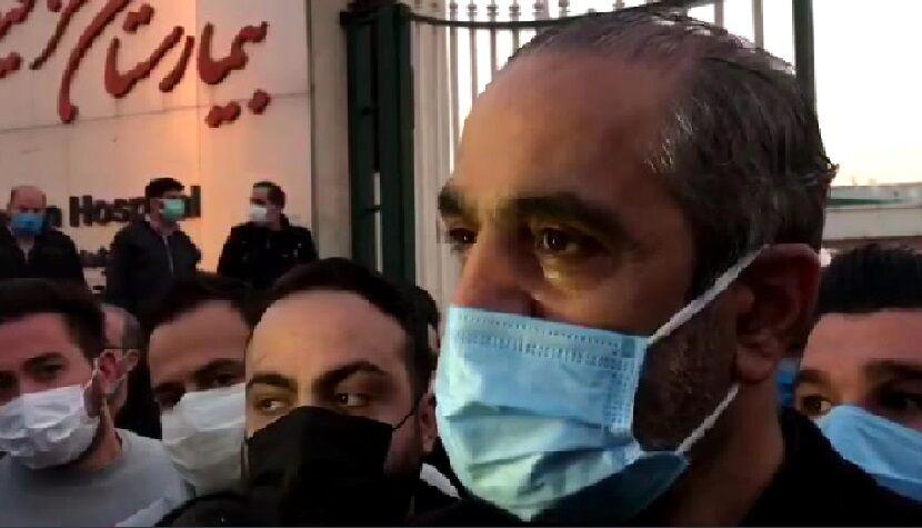 ویدیو  صحبتهای ابوالقاسمپور دقایقی بعد از درگذشت علی انصاریان