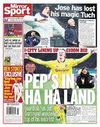 روزنامه میرر  پپ در هاهالند