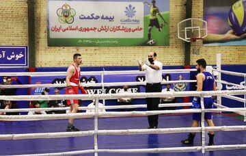 مسابقه دوستانه بوکس منتخب ارتش با تیم ملی سوریه برگزار شد