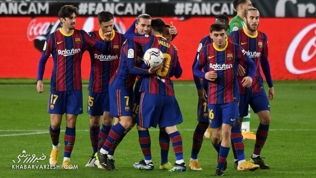 بارسلونا در دقایق پایانی برد و دوباره از رئال مادرید سبقت گرفت