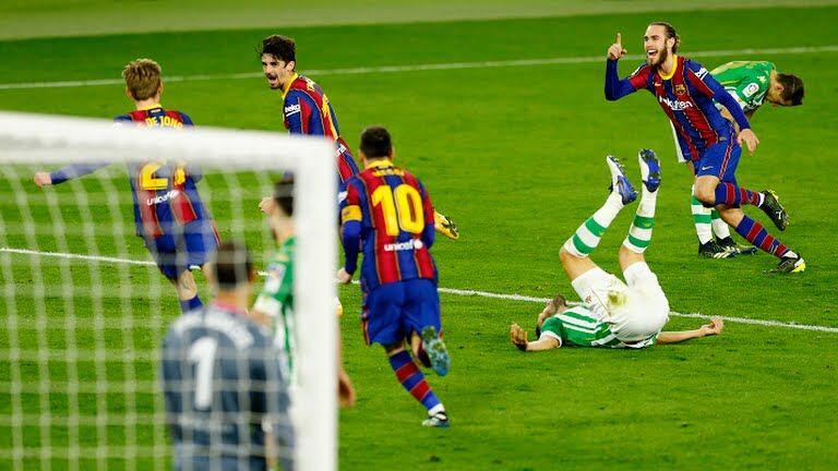 ویدیو| خلاصه بازی رئال بتیس ۲-۳ بارسلونا
