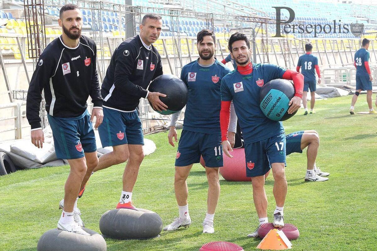 تمرین پرفشار پرسپولیسیها با حضور تمامی بازیکنان