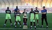 عکس یادگاری خلیلزاده و کریمی با جام حذفی قطر