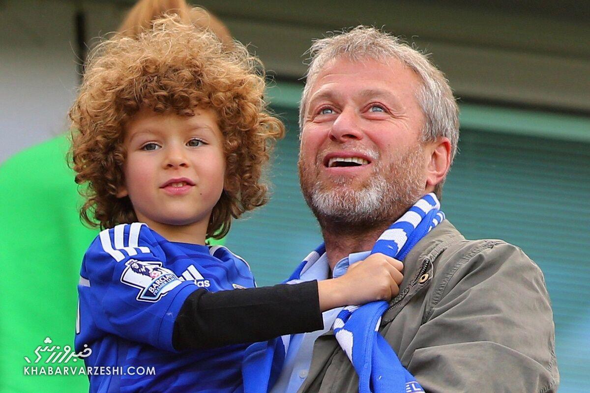 رومن آبراموویچ و پسرش