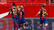ویدیو| گلها و لحظات دیدنی بازی سویا ۰-۲ بارسلونا