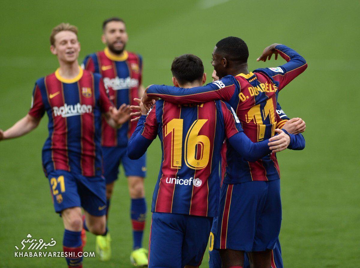 سویا صفر - بارسلونا ۲/ کاتالانها در خانه پادشاهان از رئال سبقت گرفتند