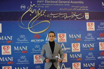 تصاویر| تیپ خاص علی کریمی در انتخابات فدراسیون فوتبال