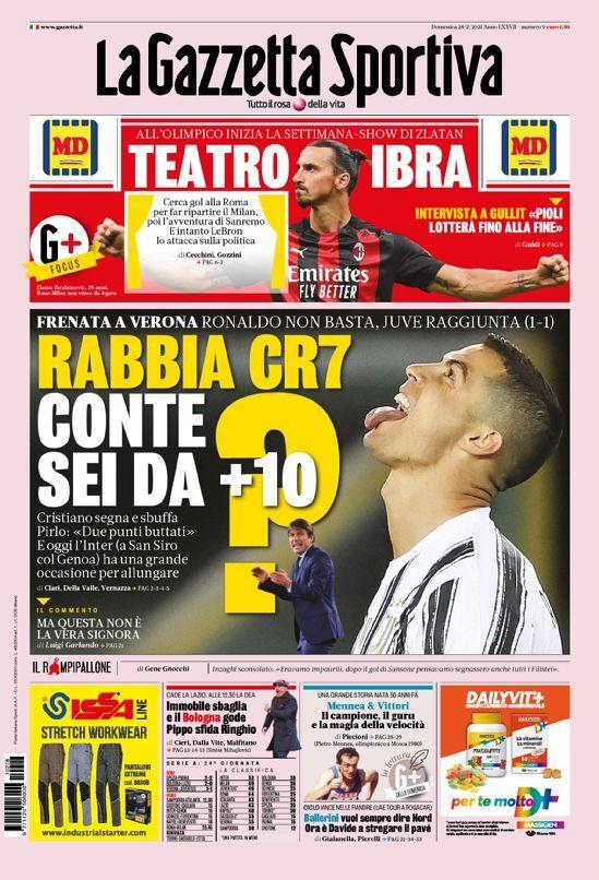 روزنامه گاتزتا| خشم CR7