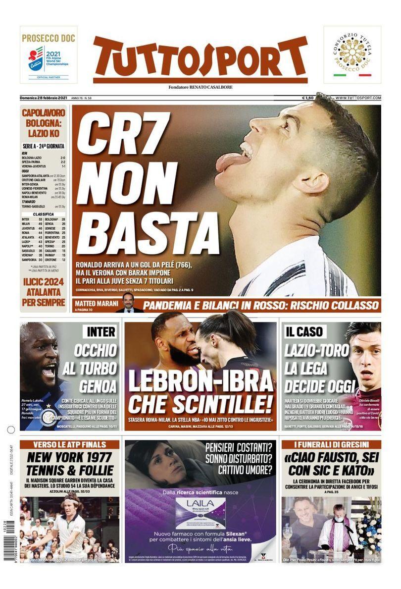 روزنامه توتو| CR7 کافی نیست