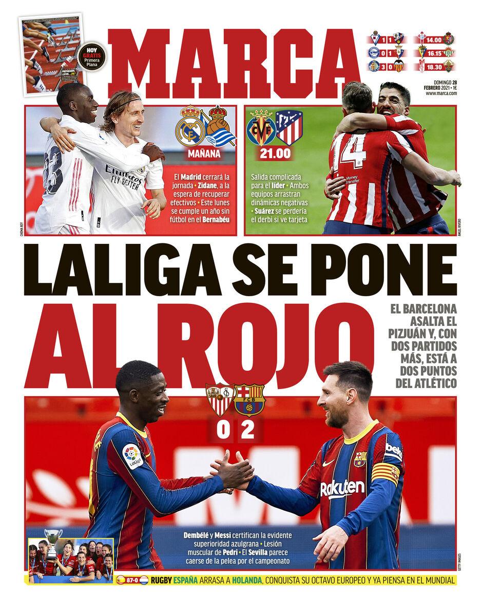 روزنامه مارکا  لالیگا قرمز میشود