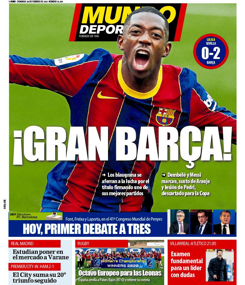 روزنامه موندو  بارسای بزرگ