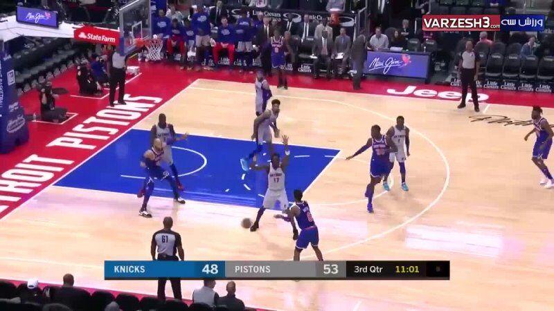 ویدیو| بسکتبال دیترویت پیستونز - نیویورک نیکس