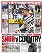 روزنامه میرر| یونایتد در لباس گورخری گیر کرد