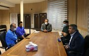 عکس| حضور کمالوند در جلسه مجیدی و مدیرعامل استقلال