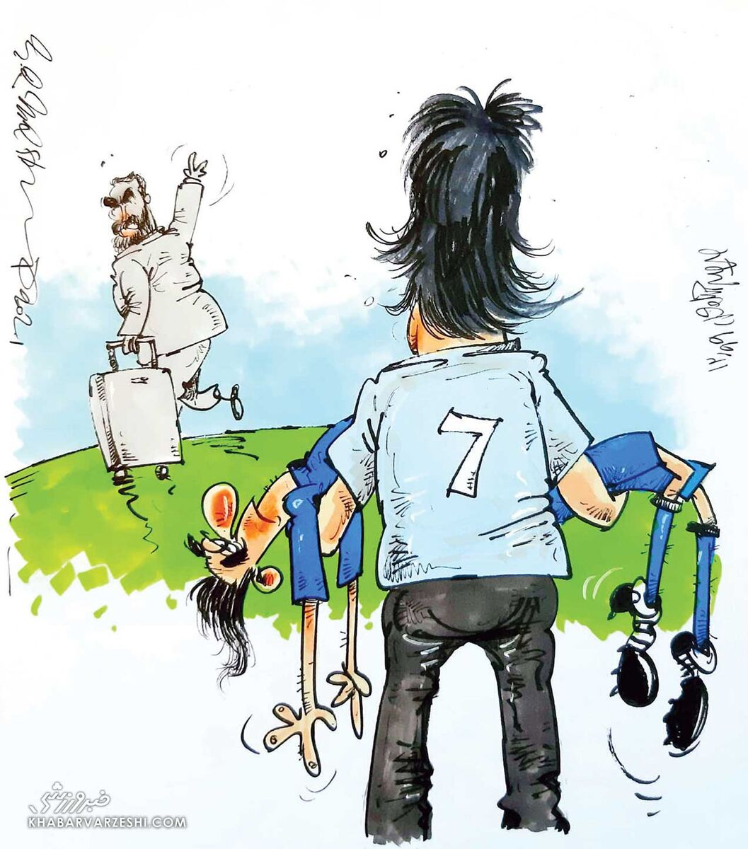 کارتون محمدرضا میرشاهولد درباره استقلال فکری به مجیدی