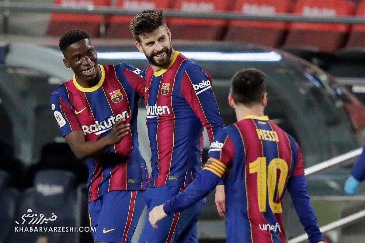 ویدیو  صعود بارسلونا به فینال حذفی اسپانیا با کامبک مقابل سویا