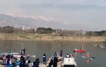 ویدیو| مسابقات امدادی لیگ برتر قایقرانی