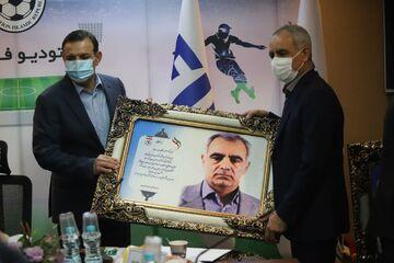 گزارش تصویری| مراسم تودیع و معارفه اعضای هیئت رئیسه فوتبال