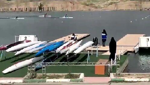 ویدیو  مسابقات کایاک تک نفره بانوان لیگ برتر قایقرانی