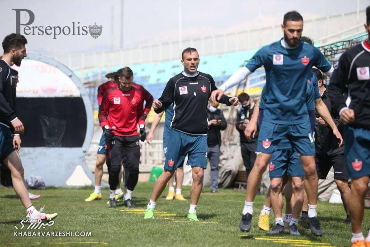 برگزاری تمرین پرسپولیسیها با آمادگی کامل بازیکنان