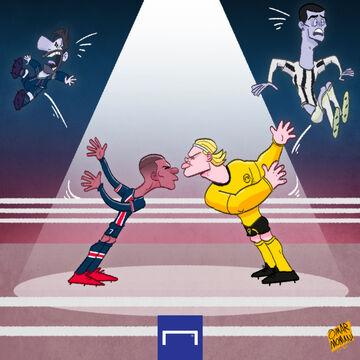 کارتون  پایان مسی و رونالدو