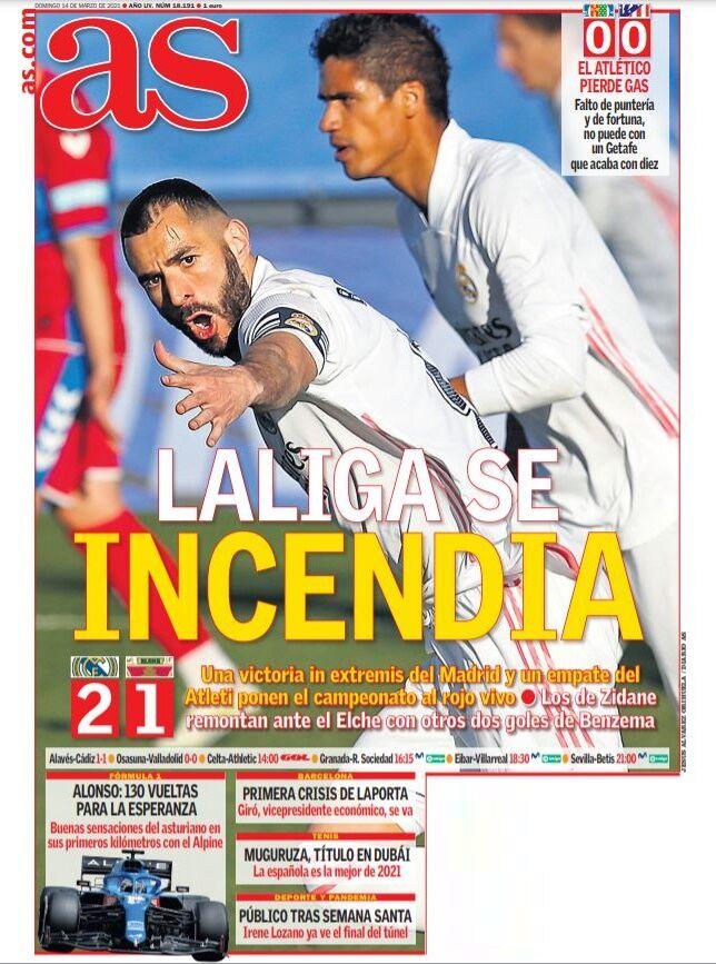 روزنامه آ اس| لالیگا روی آتش