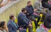 ویدیو| حضور امیر قلعهنویی در فینال لیگ والیبال