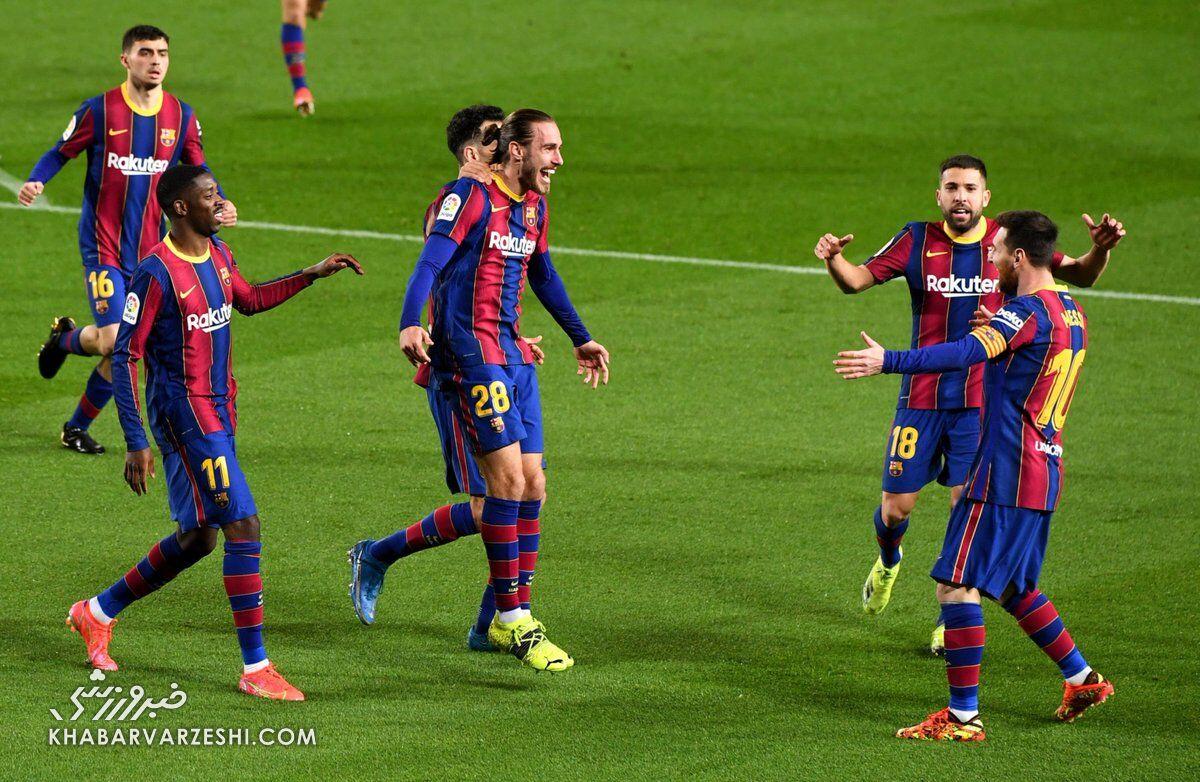 بارسلونا ۴ - اوئسکا یک/ صعود بارسا به رده دوم با دبل مسی