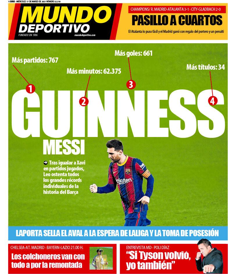 روزنامه موندو| مسی گینس