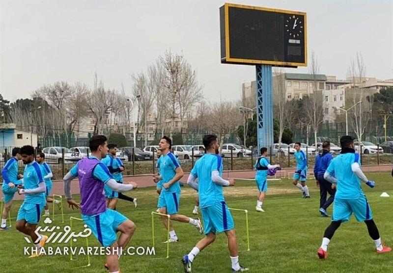 عکس| برگزاری تمرین چند بازیکن استقلال در تهران