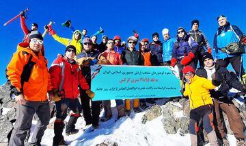 صعود کوهنوردان ارتش به قله کرکس در روز جانباز