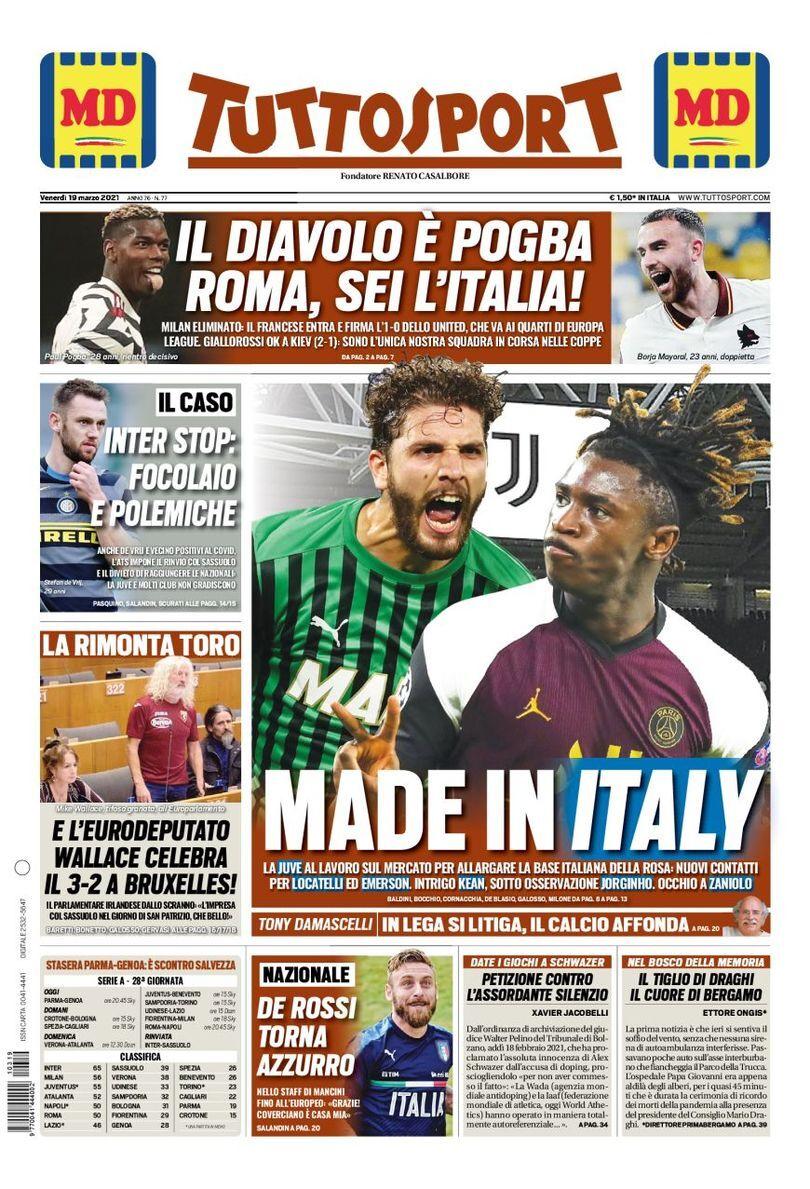 روزنامه توتو| ساخت ایتالیا