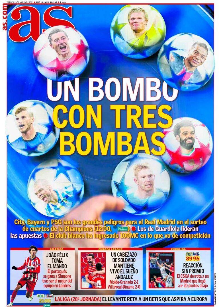 روزنامه آ اس| یک قرعهکشی با ۳ بمب