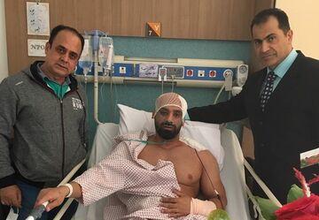 عکس| حادثه خطرناک برای قهرمان ایرانی
