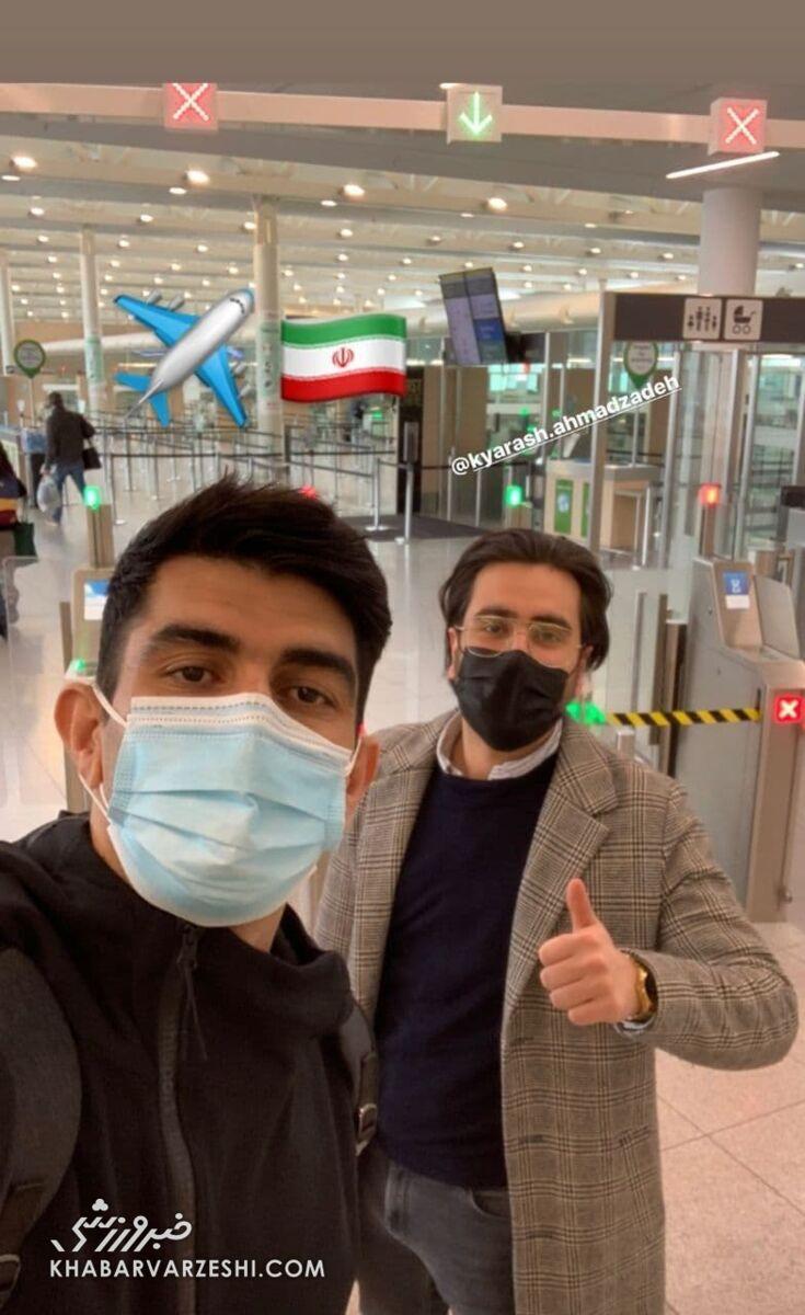 عکس| لژیونر پرسپولیسی در راه ایران و تیم ملی