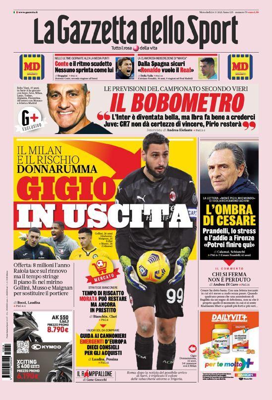 روزنامه گاتزتا| جوجو در راه خروج