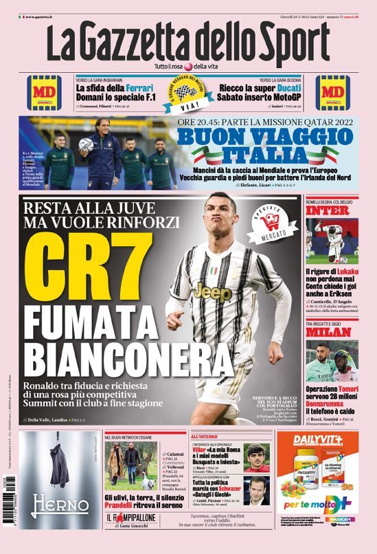 روزنامه گاتزتا  CR7، سیگنال بیانکونری
